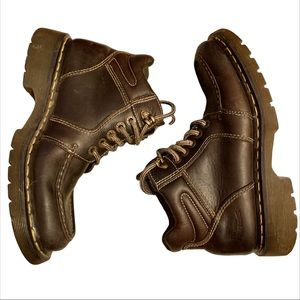 Dr. Martins brown leather work boots ankle men's 9